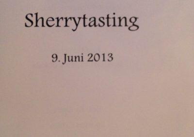 Sherrytasting